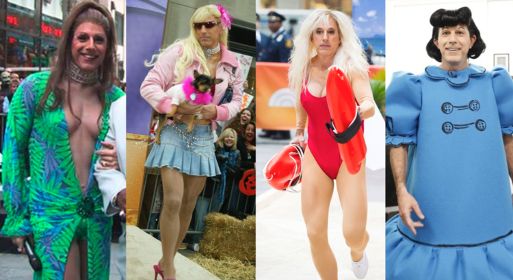 Image result for images of matt lauer in a dress