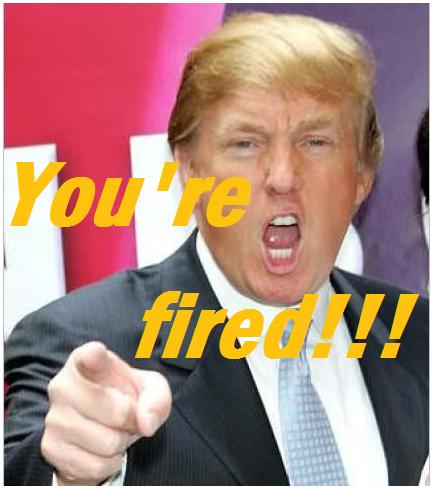 Image result for images of trump saying you are fired