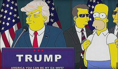 Image result for images of trump and homer simpson